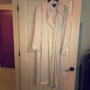 Something Navy tie dye trench satin trench coat L